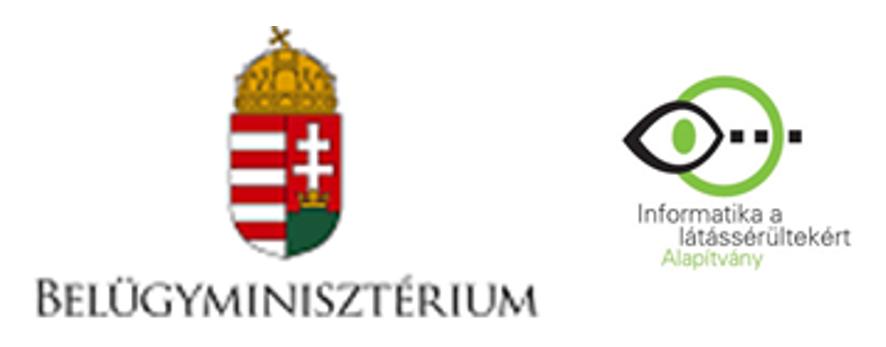 BM és Informatika a látássérültekért Alapítvány logo