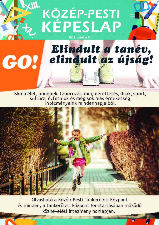 Közép-Pesti Képeslap, 2018 október 8., 1. szám