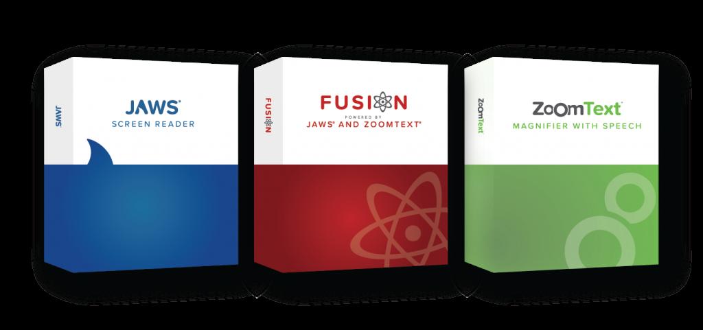 Freedom Scientific - Jaws, Fusion és ZoomText szoftvercsomag dobozos kép