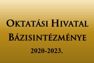 Oktatási Hivatal Bázisintézmény 2020-2023 logo
